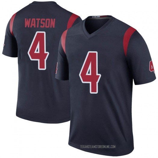 Nike Deshaun Watson Houston Texans Legend Navy Color Rush Jersey - Youth