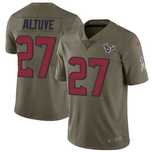 Nike Jose Altuve Houston Texans Limited Green 2017 Salute to Service Jersey - Youth