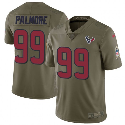 Nike Walter Palmore Houston Texans Limited Green 2017 Salute to Service Jersey - Men's
