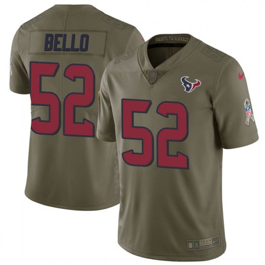Nike B.J. Bello Houston Texans Limited Green 2017 Salute to Service Jersey - Youth