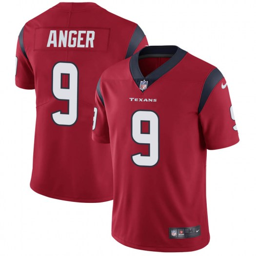 Nike Bryan Anger Houston Texans Limited Red Alternate Vapor Untouchable Jersey - Men's