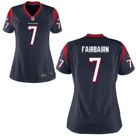 Nike Ka'imi Fairbairn Houston Texans Game Navy Blue Jersey - Women's