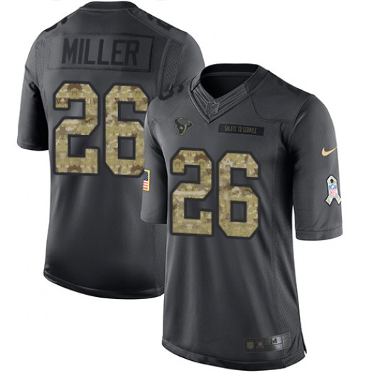 Nike Lamar Miller Houston Texans Limited Black 2016 Salute to Service Jersey - Men's